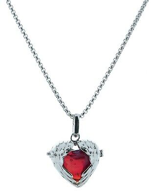 Victorian Trading Co Angelic Red Heart Angel Wings Necklace 28Q