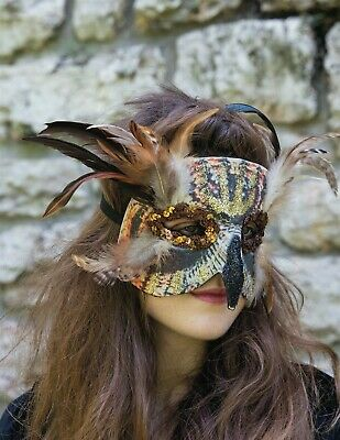 Victorian Trading Co Masquerade Great Horned Owl Halloween Mask