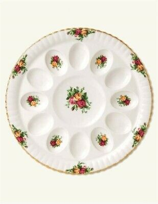 Victorian Trading Co Royal Albert Old Country Roses Deviled Egg Dish NIB 24E