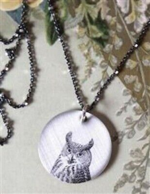 Victorian Trading Co. NWOT Old Soul Owl Bird Necklace 28L