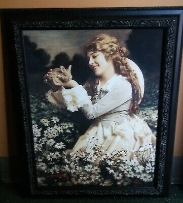 Victorian Trading Co Mary Pickford Print by Percy De Gaston Framed