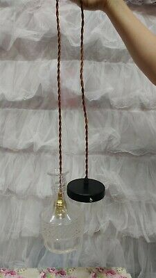Victorian Trading Co Louisa's Decanter Hanging Pendant Lamp Glass