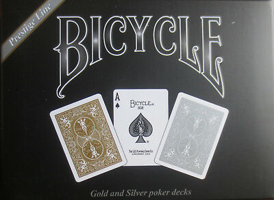Bicycle Rider Back Gold and Silver 2 Deck Set of Playing Cards – Lim Ed - Sealed