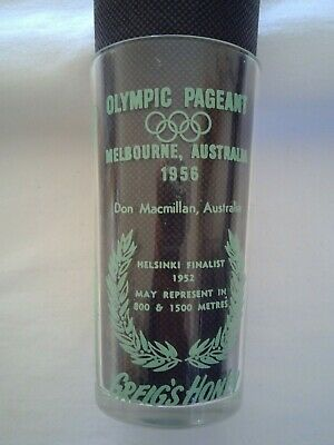 Olympic Games Collectable 1956 Melbourne Vintage Greigs Honey Glass D.MacMillan