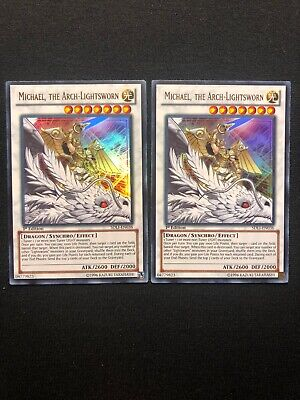Michael the Arch-Lightsworn sdli-en036 1st Ed Ultra Yu-Gi-Oh! NM