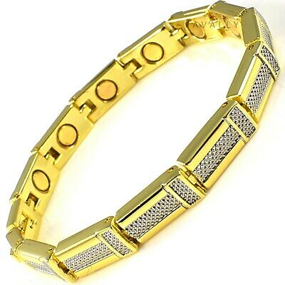 MAGNETIC BRACELET carpal tunnel arthritis pain relief Ladies Womens gold silver