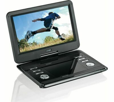 """LOGIK  11.6"""" 12v Rechargeable Portable Big Swivel Screen In Car DVD Player"""