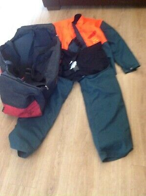 Chainsaw Protective Clothing, Trousers Jacket and Bag