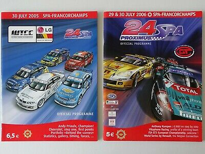 24h Spa Francorchamps Rennprogramm 2005 + 2006  Official Programme