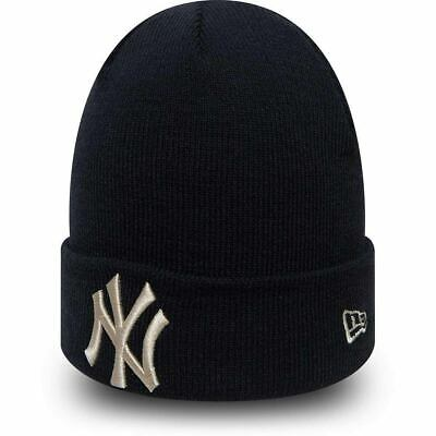 NEW ERA MLB New York Yankees League Essential Cuff Knit Navy Beanie Hat New