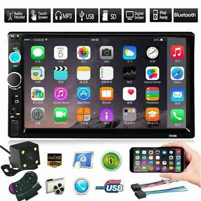 7Inch 2DIN Car Stereo Radio MP5 FM Player Full Touch Screen Bluetooth GPS+Camera