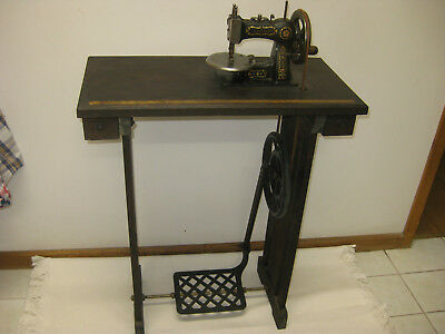 Antique Rare Little Lady Childs Toy Treadle And Hand Sewing Machine