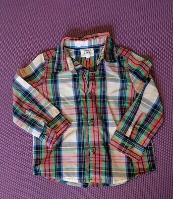Crown And Ivy Baby 18M Baby Boy Plaid Button Up Shirt L/S