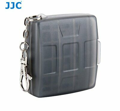 JJC MC-11D BLACK Memory Card Holder case fit for 4x SD, 4x MSD with key ring _AU