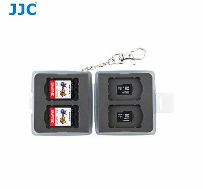 JJC MC-12D Memory Game Card case for 4x NS Nintendo Switch cards + Micro SD _AU