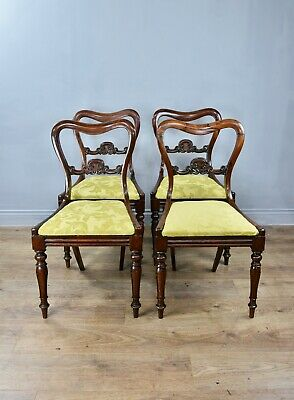 Antique set of four Regency rosewood dining chairs