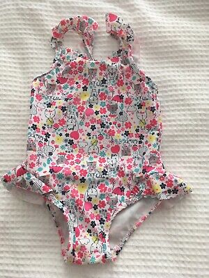 Mothercare Swimming Costume Frill Skirt One Piece 18 -24 Or 1.5 -2