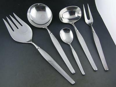 Sterling FRIGAST 5 Serving Pieces ~ spoons forks ladle SAVOY ~ Denmark