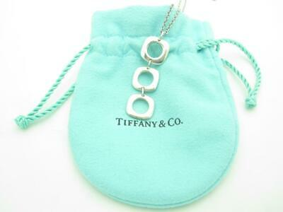 Tiffany & Co. Sterling Silver Triple Three Cushion Pendant Necklace