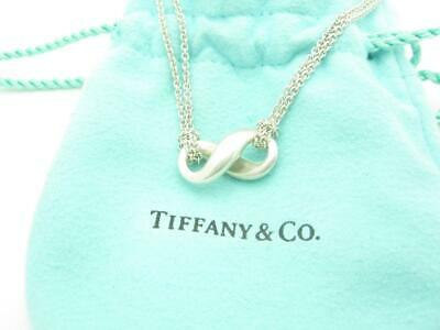 Tiffany & Co. Sterling Silver Double Infinity Chain Pendant Necklace
