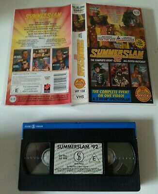 VHS VIDEO - WWF Summer Slam '92 Complete Event 11 Matches Silver Vision WWE WWF