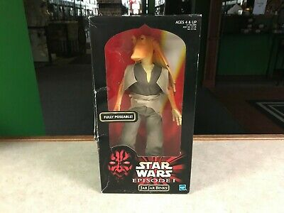 "1999 Star Wars Episode 1 EPS1 JAR JAR BINKS 12"" Inch Figure NIB"