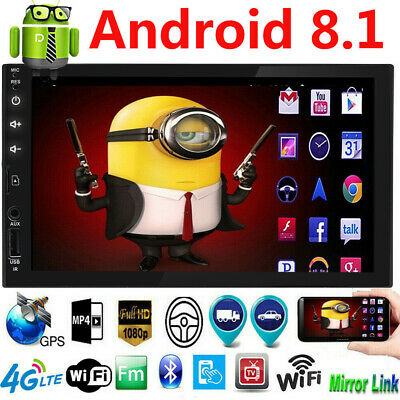"""7"""" Android 8.1 Car Stereo GPS Navigation Radio Player Double 2Din WIFI AUX SD BT"""