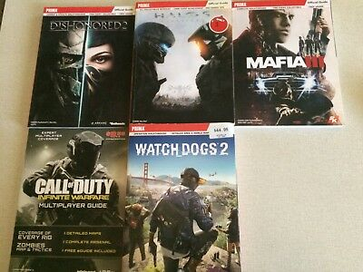 Various Game Guides - Halo 5, Watch Dogs 2,etc     -   BRAND NEW   -       Prima