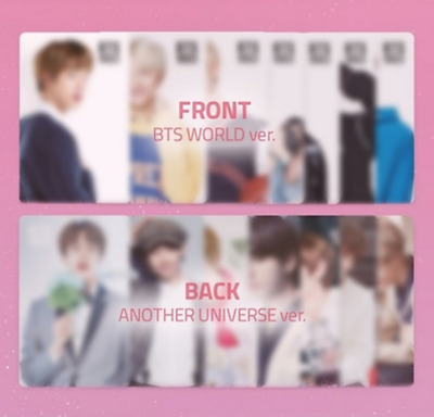 Bts - World Ost Double Sided Photo Card V Jungkook Jimin Suga J-Hope Rm