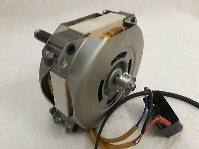 120 v capacitor run AC motor w/pulley and belt