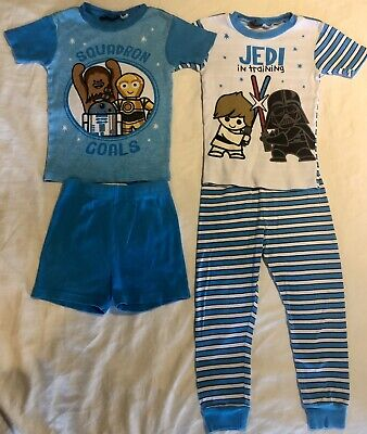 Star Wars Toddler Boy's 4 Piece Pajama Pants Shorts Set Size 5T