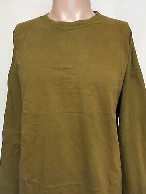 VTG 80s ANCHOR BLUE LONG SLEEVE BRONZE T SHIRT Crewneck USA MADE Oversized XL