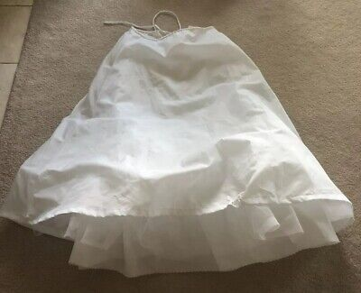 EUC Merry Modes Petticoat Bridal Underskirt A Line Slip White One Size