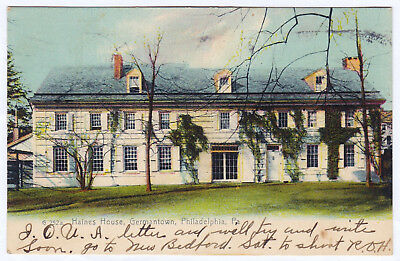 1906 Germantown Philadelphia PA Historic Haines House Wyck Mansion RARE Postcard