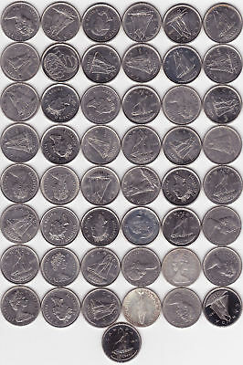 ( 54 ) Different Canadian 10c Coins - 1968  to 2018