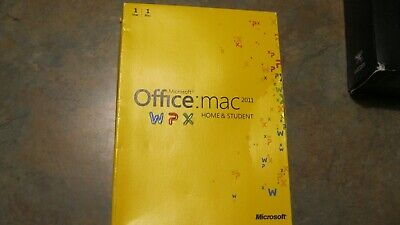 Genuine Microsoft Office Mac 2011  Home and Student Family Pack 1 User version