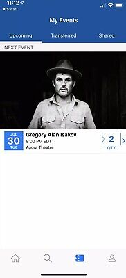 gregory alan isakov 2 Tickets Cleveland Ohio The Agora Must Sell Today!!