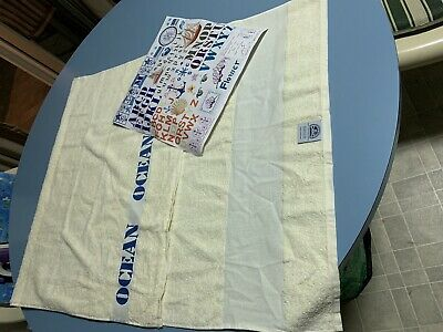 DMC Cream Towel To Be Cross Stitched - New
