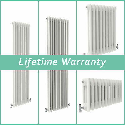 Traditional Column Radiator Vertical Horizontal Rads Cast Iron Style White
