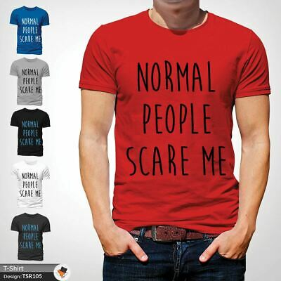 NORMAL PEOPLE SCARE ME T Shirt Funny Horror Story Top Film TV Unisex NEW Red