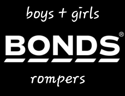 Bonds baby rompers in boys and girls assorted styles, new