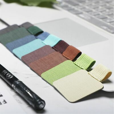 x2 Self-adhesive Leather Pen Clip Pencil Elastic Loop for Notebooks Pen Holder ~