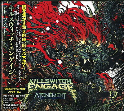 KILLSWITCH ENGAGE-ATONEMENT-JAPAN DIGIPAK CD BONUS TRACK Ltd/Ed F30