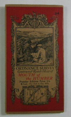 1923 Old OS Ordnance Survey One-Inch Popular Edition Map 34 Mouth of the Humber