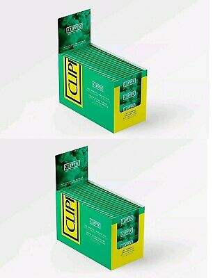 200 Packs Clipper Green Rolling Papers Regular Size Cut Corner Fag Roll Up