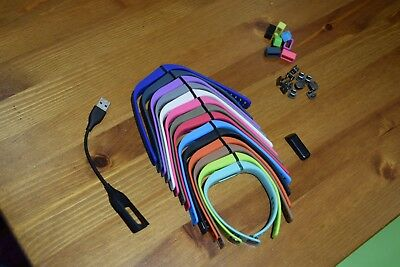 Genuine Fitbit Flex Activity Sleep Tracker 14 Assorted Bands + Charger