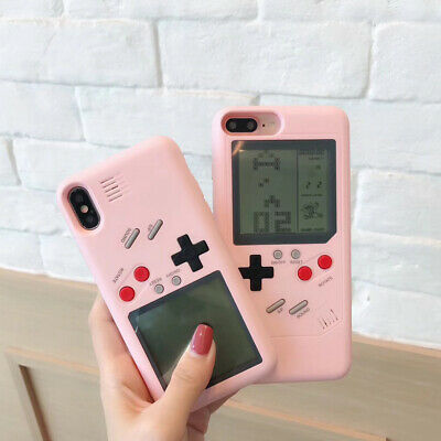 Pink Game Boy Phone Case Silicone Cover Shockproof for iPhone X/XS XR MAX 7/8