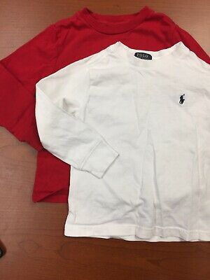 Lot of TWO Baby Boy Ralph Lauren T-Shirts. Size 3T. Pre-Owned. See Pictures.
