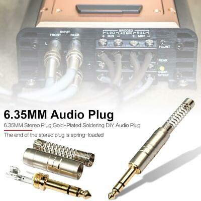 Adapter 6.35MM Stereo Plug Gold-Plated for Soldering DIY Audio micro mixer cable