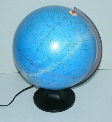 "Lighted Celestial Scan Globe Constellations 12"" Excellent condition!"
